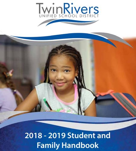 Twin Rivers 2018-2019 Student and Family Handbook, girl writing at desk